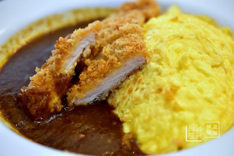 蛋包豬排咖哩飯,東京咖哩八德 @Nash,神之領域