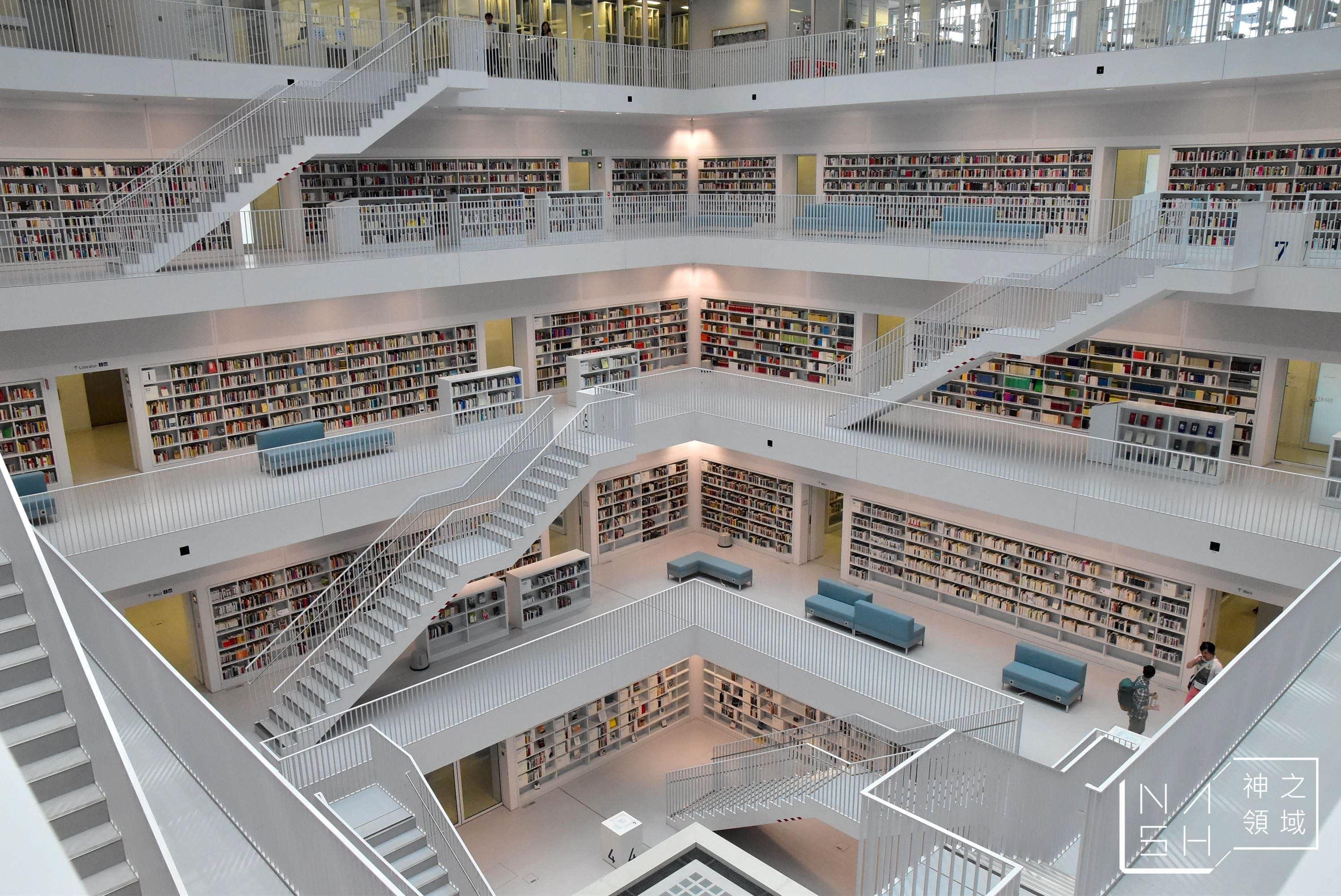 德國斯圖加特景點,德國斯圖加特景點推薦,德國斯圖加特圖書館,斯圖加特市立圖書館,斯圖加特圖書館 @Nash,神之領域