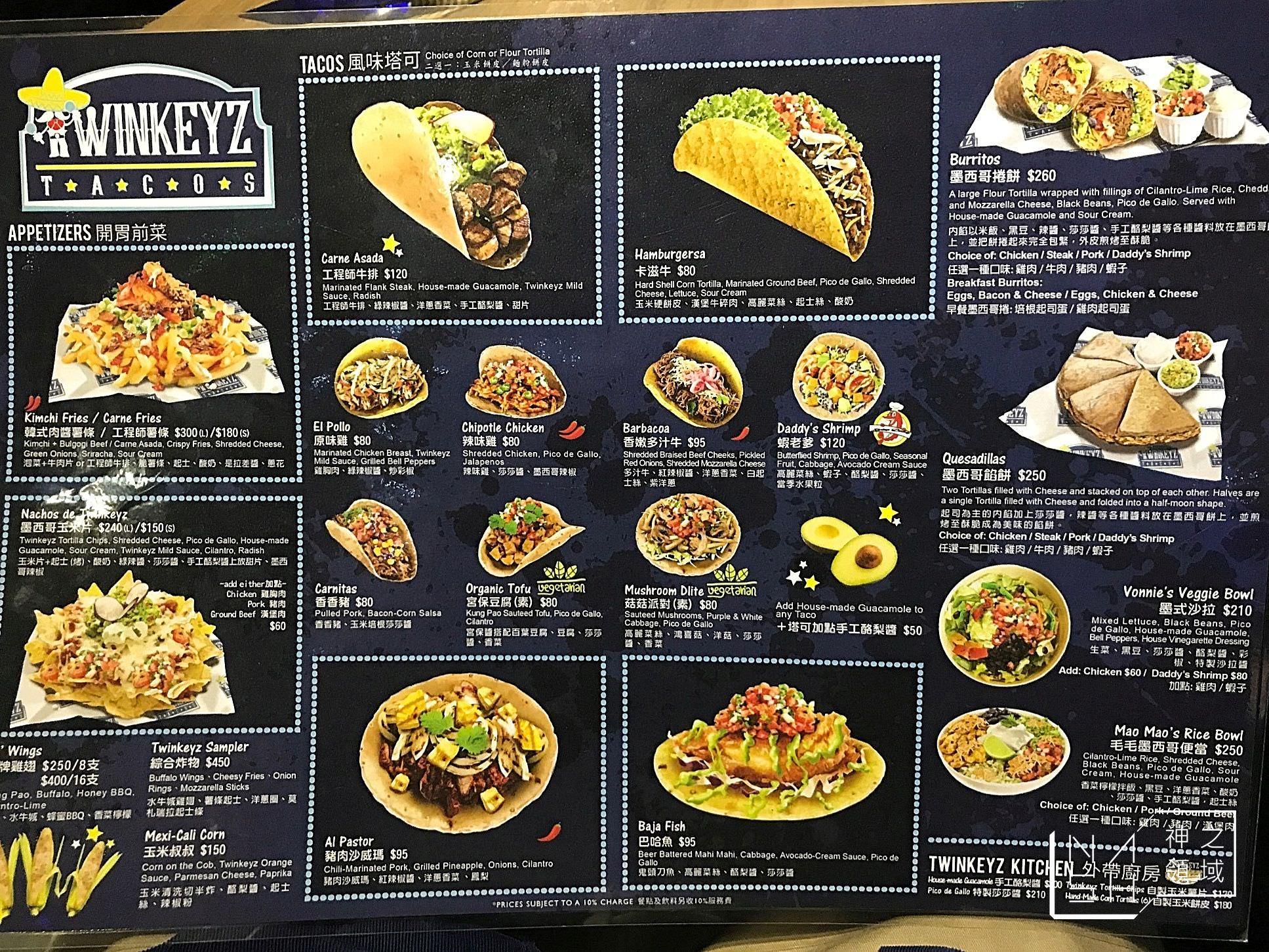 台北Taco推薦,捷運忠孝敦化美食推薦,Twinkeyz Tacos,塔可老爹