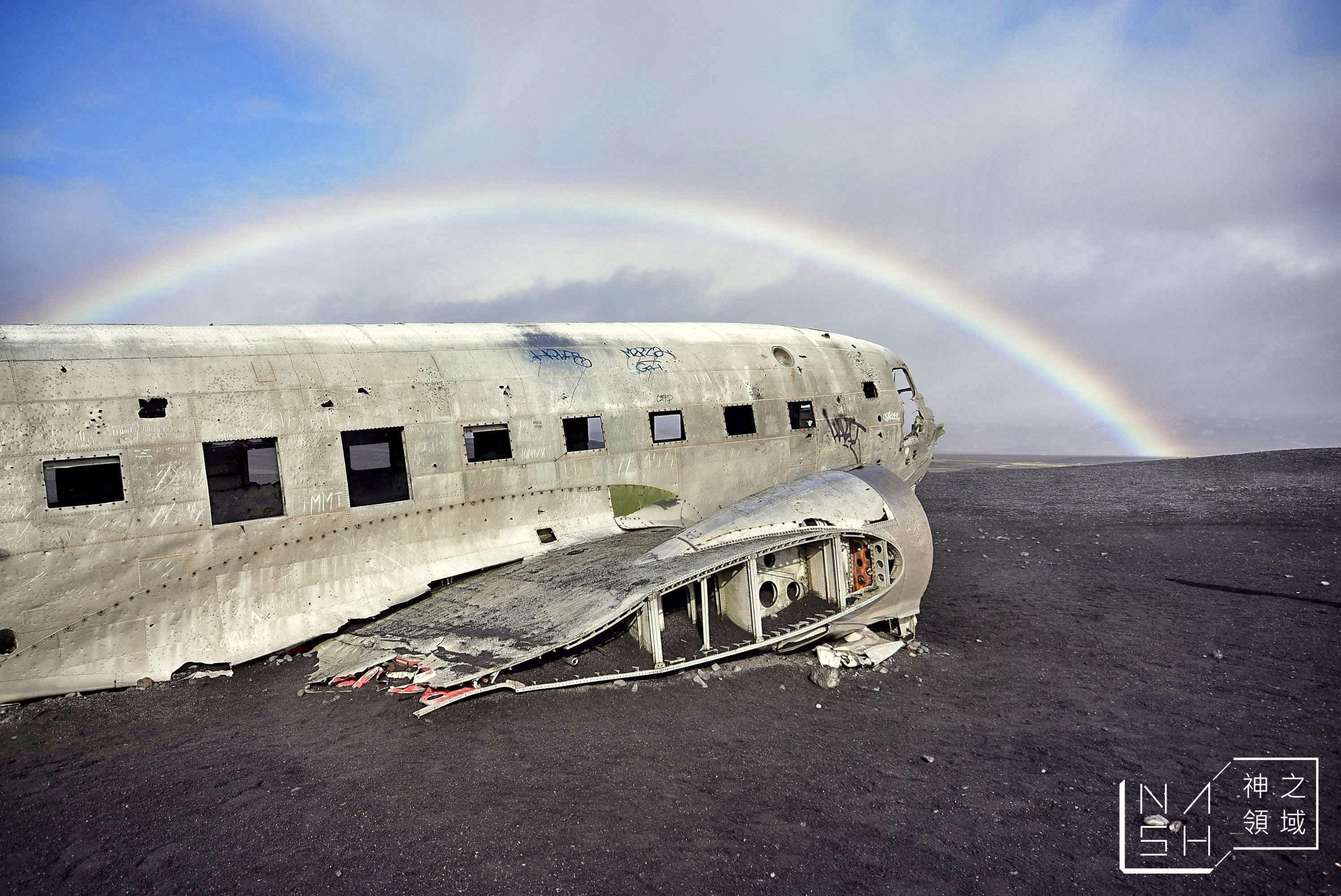 冰島自助景點,Solheimasandur Plane Wreck,飛機殘骸,冰島飛機殘骸 @Nash,神之領域