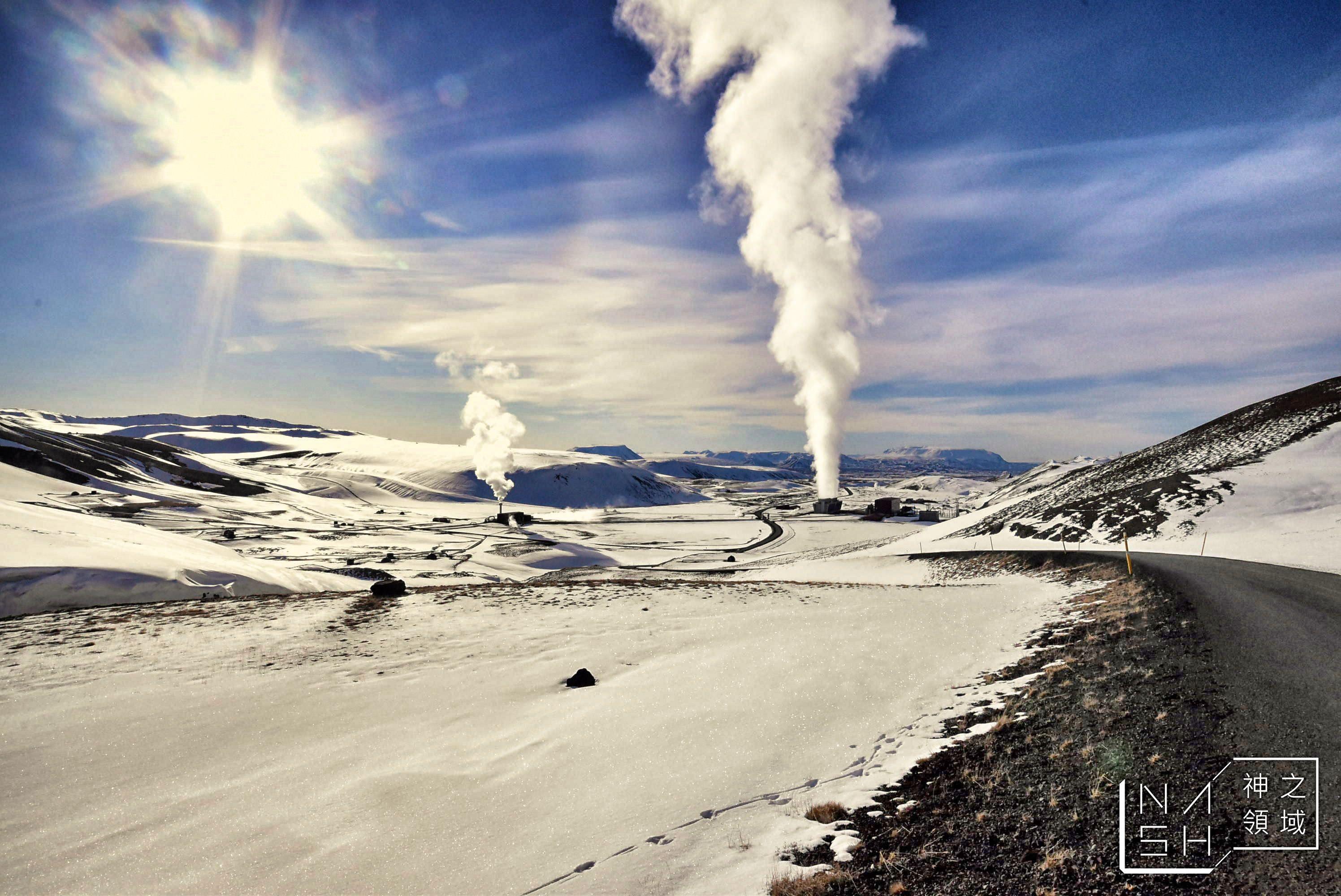 冰島自由行環島景點推薦,克拉夫拉,冰島米湖景點推薦,米湖,Krafla Power Plant,viti,克拉夫拉地熱發電廠,viti火山口湖 @Nash,神之領域