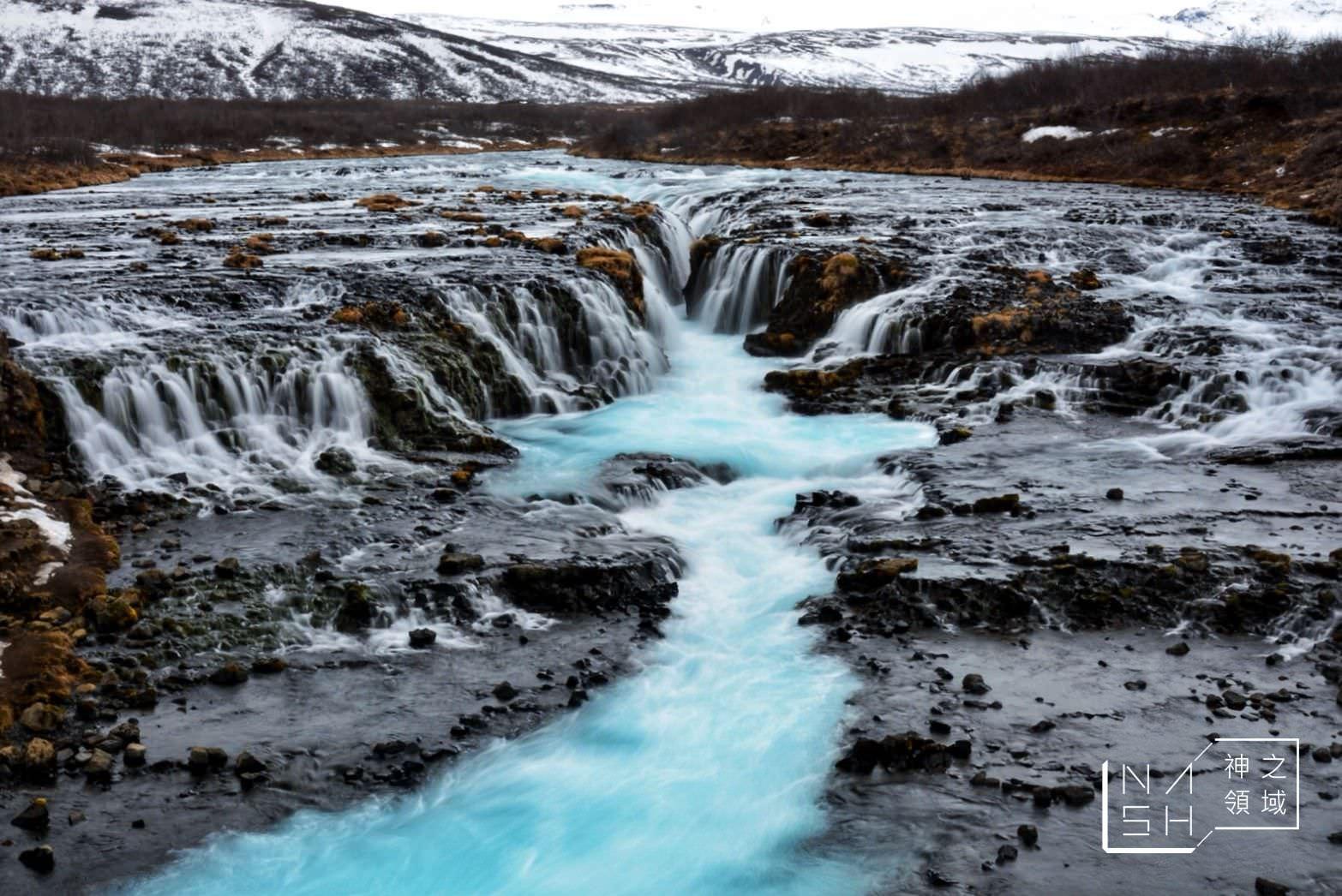 Bruarfoss Waterfall,蒂芬尼藍瀑布,冰島黃金圈景點 @Nash,神之領域