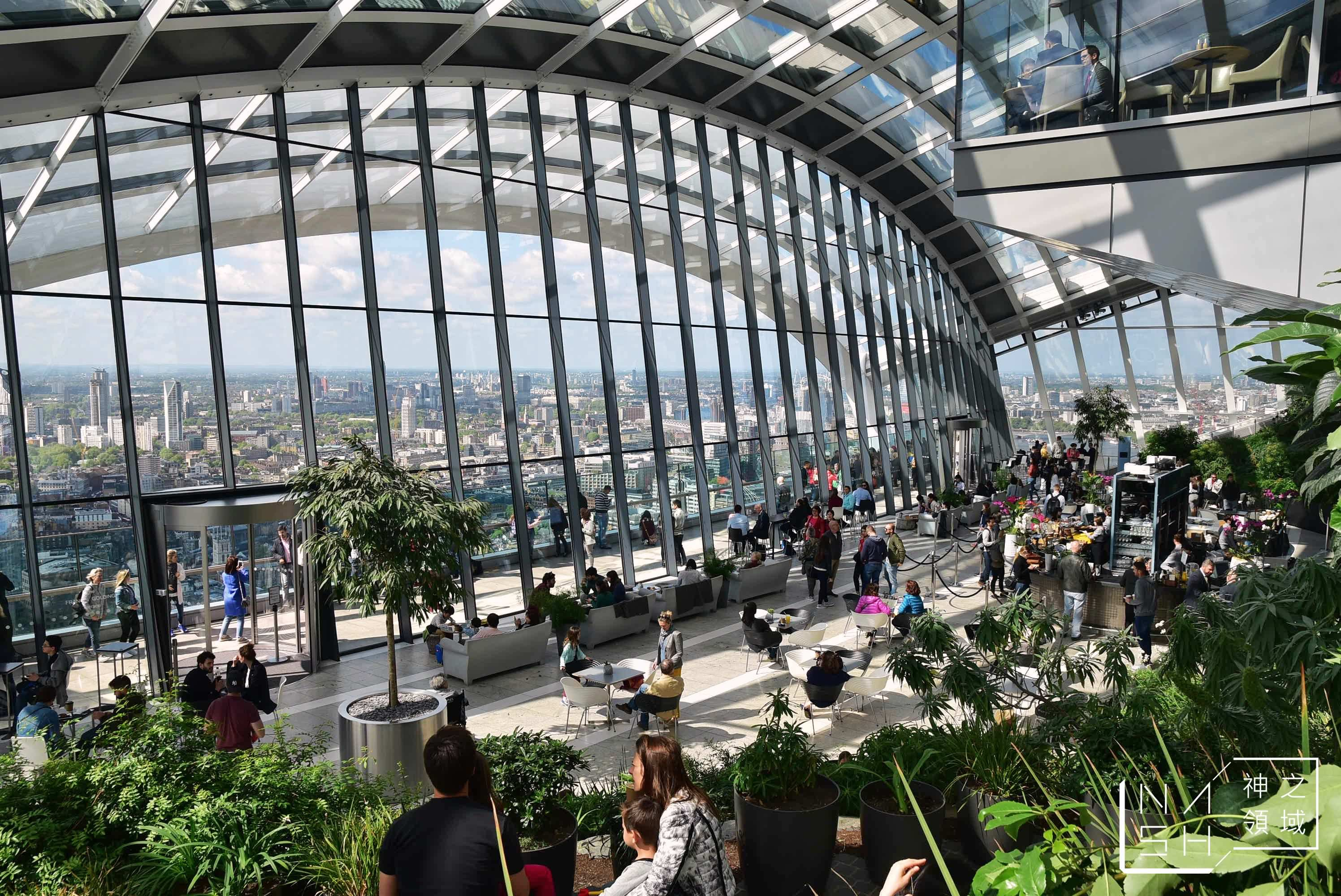 london sky garden,SKY GARDEN,倫敦空中庭園觀景台,倫敦觀景台 @Nash,神之領域